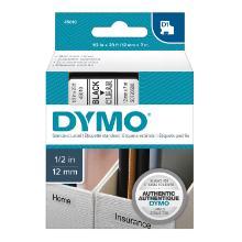 Labelling tape Dymo D1 12mmx7m black, transparent product photo