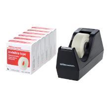 Tape dispenser black + 3 rolls invisible tape product photo