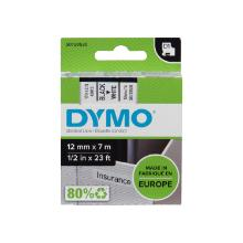 Dymo label tape D1 12mm black on white product photo