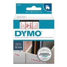 Dymo label tape D1 12mm red on white product photo
