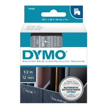 Dymo tape 12mm transparent-white D1 product photo