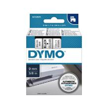 Dymo 40910 D1 9mmX7m Black on Clear Tape > Electronic Labelmakers product photo