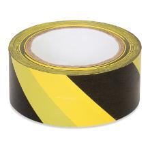 Floor tape black/yellow 50mm x 66m product photo