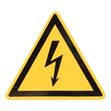 Electrical warning sticker product photo