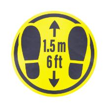Floor stickers 1,5m6Ft distance pk10 product photo