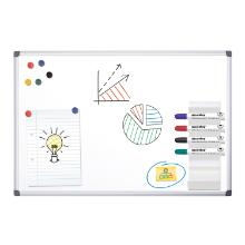 Whiteboard magnetic coated steel 900x600mm product photo
